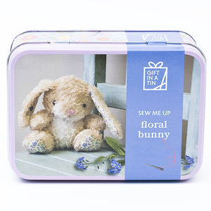 Apples to Pears 101291 Floral Bunny In A Tin