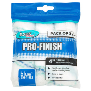 "Axus Decor AXU/RB43 Blue Series Pro-Finish 4"" Mini Roller Sleeves Pkt3"