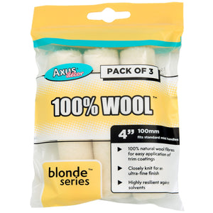 "Axus Decor AXU/RBLN43 Blonde Series 100% Wool 4"" Mini Roller Sleeves Pkt3"