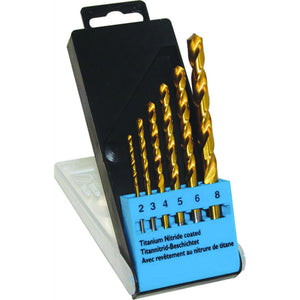 C.K T3293 Titanium Nitride (TiN) Coated Metal Drill Bits Set of 6