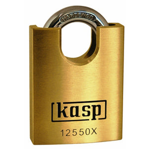 Kasp K12550XD Premium Brass Padlock 50mm - Closed Shackle