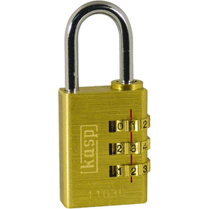CK k11030dpcc Kasp brass combination padlock 30mm
