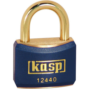 Kasp K12540BLUD Brass Blue Padlock 40mm Brass Shackle