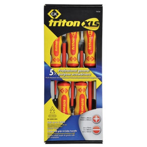 C.K T4729 Triton XLS Screwdriver set - Insulated 5 Piece Slotted/PZD