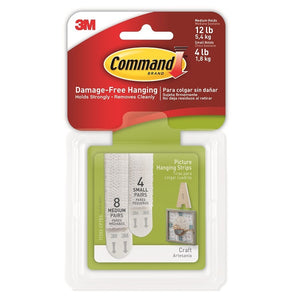 Command 17203 Assorted White Picture Hanging Strips