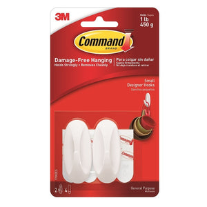 Command 17082 2 Small Designer Hooks