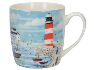 Creative Tops 5225969 Everyday Home Fine China Mug - Lighthouse Coastal