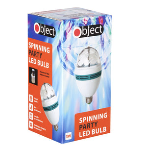 Object SP110 Spinning Party LED Bulb 3w with Adaptor