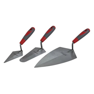 Faithfull Soft Grip Trowel Set - 3 Piece