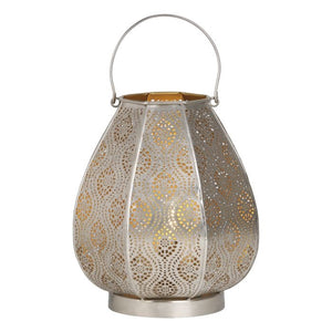 Dar ALI4155 Alida Table Lamp Nickel & Gold
