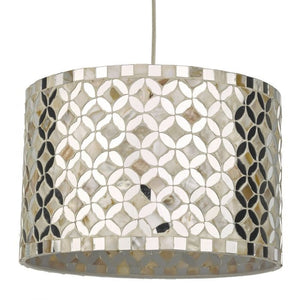 Dar ACQ8568 Acquila Easy Fit Pendant Shade Mirror & Cream 30cm Dia