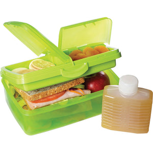 Sistema 966 Slimline Quaddie Lunch Box - Asst Colours