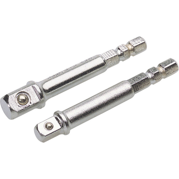"Draper 50087 1/4"" HEX. x 1/4"" AND 3/8"" SQUARE DRIVE ADAPTORS"