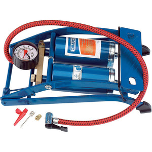 Draper 25996 DOUBLE CYLINDER FOOT PUMP WITH GAUGE