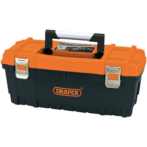 "Draper 85637 Toolbox 24"" With Tote Tray - Orange & Black"