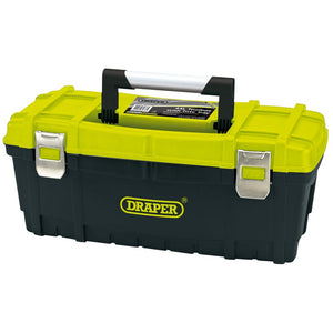 "Draper 85638 Toolbox 24"" With Tote Tray - Green & Black"