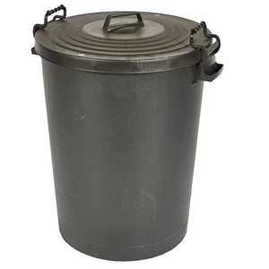 Black Dustbin 110Ltr with Clip on Lid
