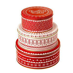 Eddingtons 871006 Christmas Cake Tins - Set of 3