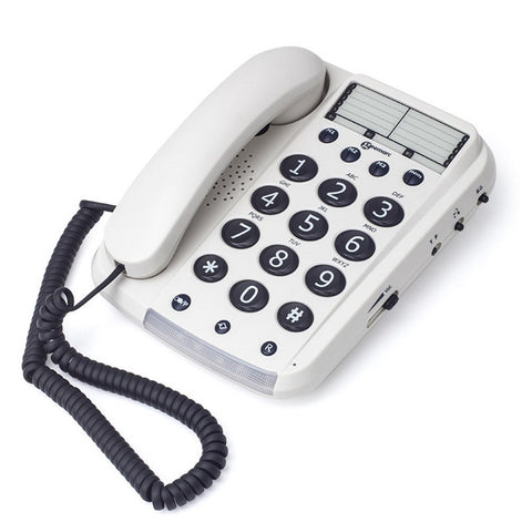 Geemarc DAL10_WH Big Button Telephone - White