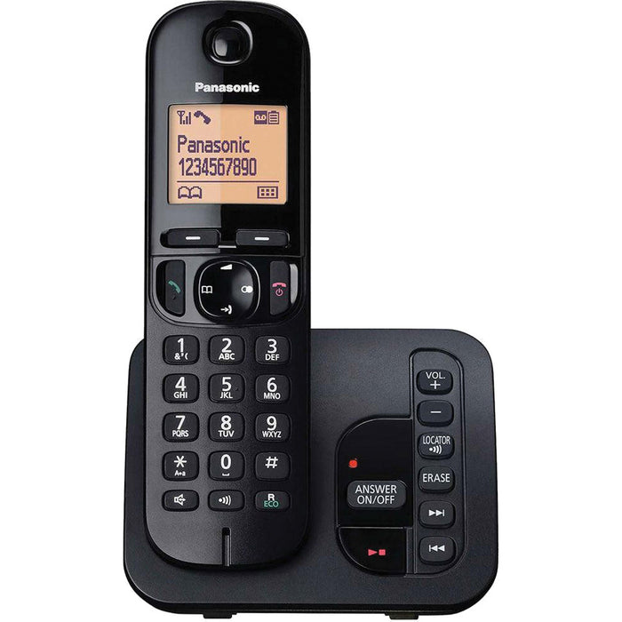 Panasonic KXTGC220 Single Cordless Phone With Answer Machine