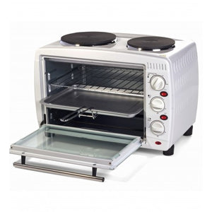 Igenix IG7126 26 Litre Electric Mini Oven with Double Hotplates – White