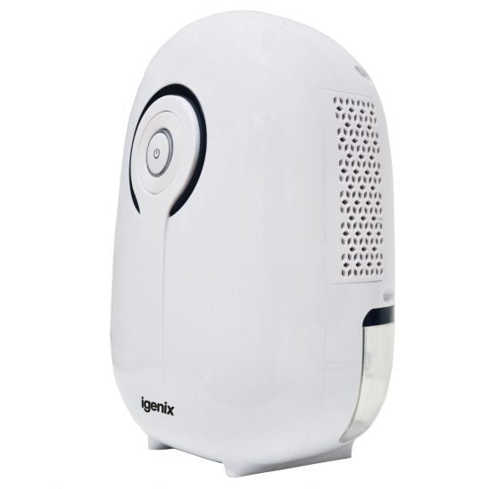 Igenix IG9801 Portable Mini Air Dehumidifier White 22w 400ml Tank