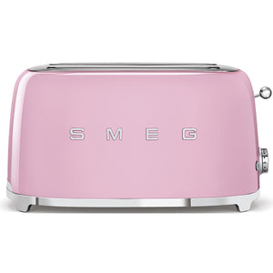 Smeg 4 Slice Long Slot Toaster - Pink
