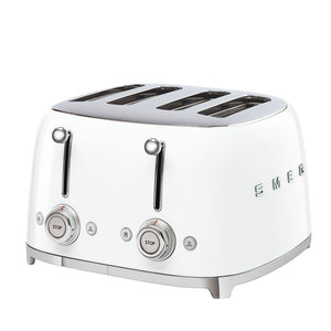Smeg 4 Slice Steel Toaster - White