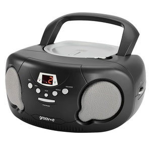 Groov-e GV-PS733-BK Boombox CD Player & Radio Black