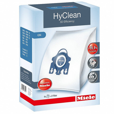 Miele Hyclean GN Vacuum Cleaner Bags Pkt4 3D Efficiency