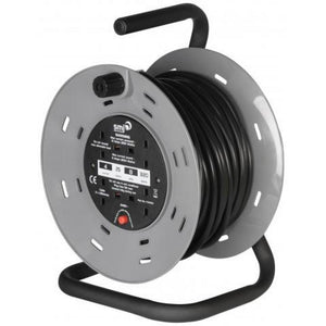 SMJ CTH5013 CT Range 50mtr 13amp 4 Gang Cable Reel Heavy Duty