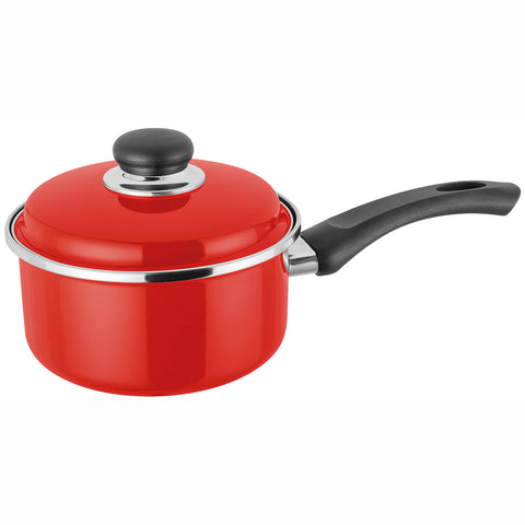 Judge Induction JT05 Saucepan 16cm with Lid - Red
