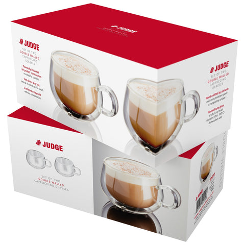 Judge JDG30 Double Walled Cappuccino Glasses Set of 2