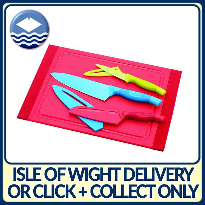 Stellar SH96 Colourtone Knife & Board Set