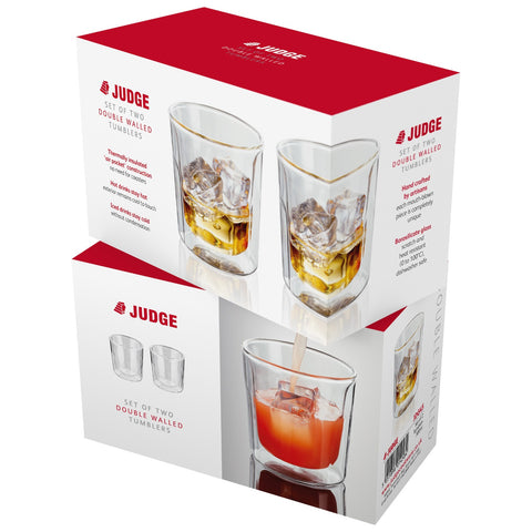Judge JDG45 Double Walled Glass Tumblers Set of 2