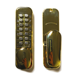 Borg Digital Door Lock 60mm - Polished Brass