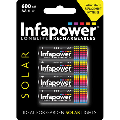 Infapower B008 AA Rechargeable Solar Batteries