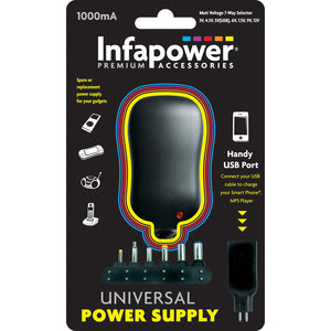 Infapower P002 Universal Power Supply 1000mA