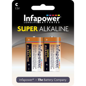 Infapower B703 1.5V C size Super Alkaline Battery - Pack of 2
