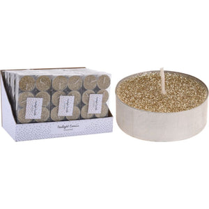 Koopman ACC004120 Glitter Tealights pack of 8 - Gold