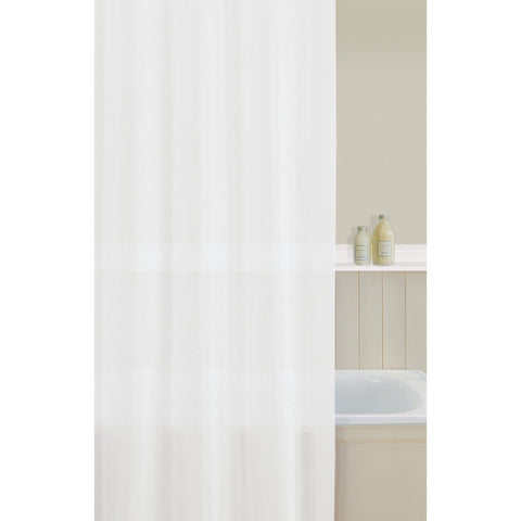 Aqualona 10419 PEVA Shower Curtain White 180x180cm
