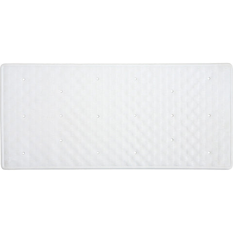 Aqualona 41413 Roman Rubber Bath Mat White