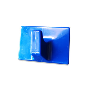 Adhesive Hook Blue Plastic - 52mm x 35mm