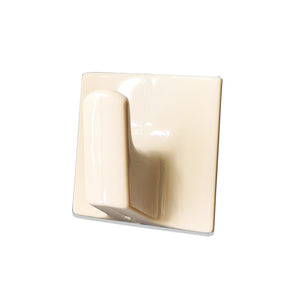 Adhesive Hook Light Bown Plastic - 51mm x 51mm