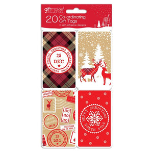 Giftmaker Collection XAHGT1038 Christmas Contemporary Gift Tags Pkt20