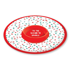 Home Collection Melamine Chip 'N' Dip Plate