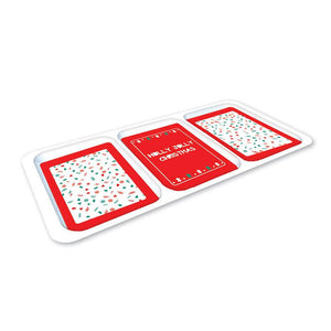 Home Collection Melamine Tray 3 Section