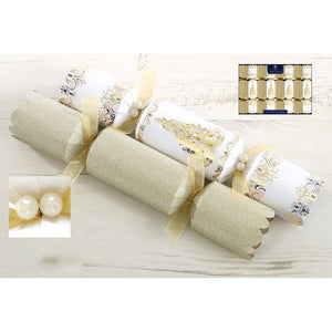 Tom Smith XAHTS2403 Cream & Gold Luxury Christmas Crackers Pkt8