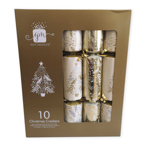 Giftmaker Collection XAJGS504 Christmas Crackers Pkt10 - Gold/Cream