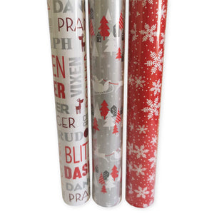 Giftmaker Collection GW102 Christmas Gift Wrap 5mtr - Various Designs